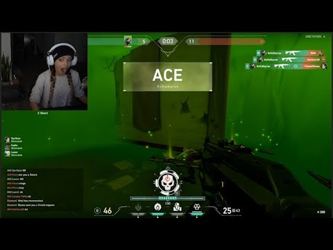 (New) Valkyraes first ace on valorant! *a highlight reel* ft fuslie, boxbox, brofain and more...