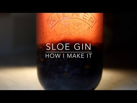 (HD) Easy method to make sloe gin at home   foraging to drinking