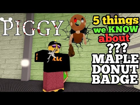 (New) Piggy maple donut badge skin - 5 things we know about ??? secret badge