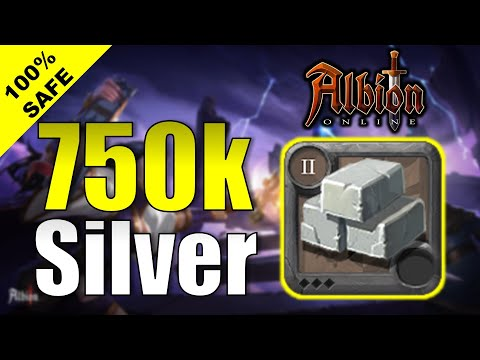 (HD) 750k silver in 45 minutes with limestone blocks | how to make more silver albion online 2020