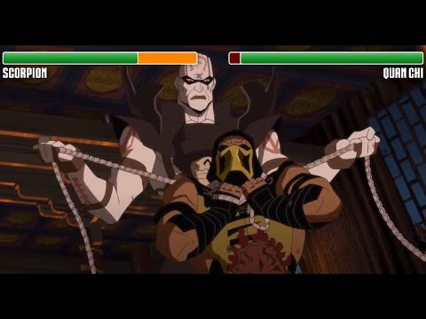 (New) Scorpion vs. quan chi with healthbars | hd | mortal kombat legacy: scorpions revenge