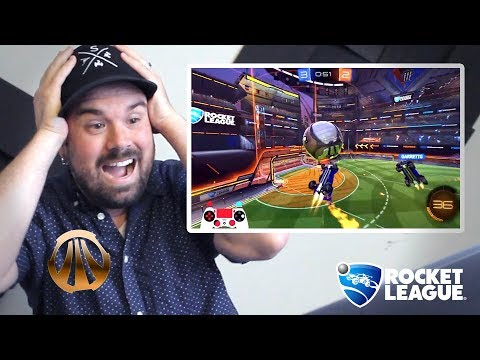 (HD) A bronze reacts to rocket league pros