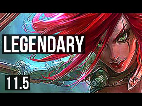 (New) Katarina vs akali (mid) | 10 solo kills, 2.7m mastery, 700+ games, legendary | br diamond | v11.5