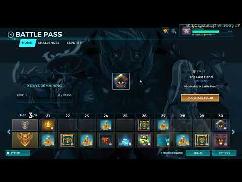 (New) Paladins patch 1.3 battle pass 2 all items, all levels, free and paid path