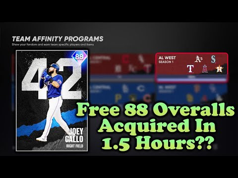 (New) The fastest way to complete team affinity with no money spent! [mlb the show 21 diamond dynasty]