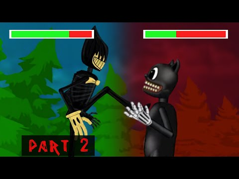 (New) Cartoon cat vs bendy the ink machine part 2 - funny animation - drawing cartoons 2