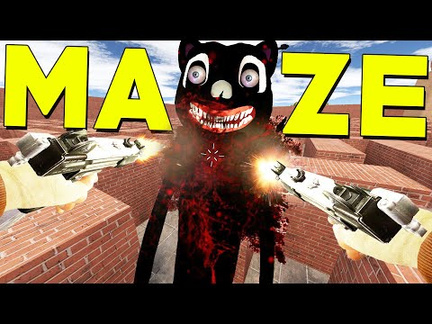 (New) Cartoon cat maze (gmod sandbox) nextbot escape