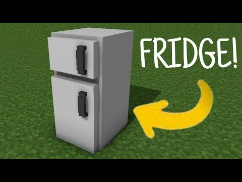 (New) How to make working fridge in mcpe | minecraft