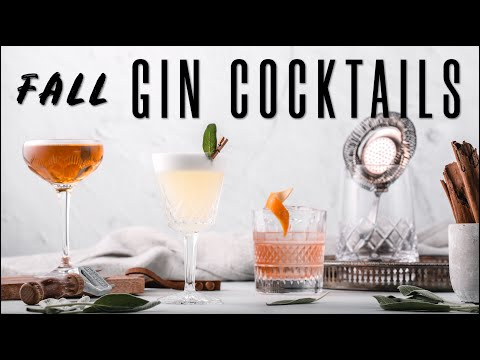 (New) 3 gin cocktails - how to make easy autumn cocktails