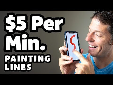 (New) Make money painting lines - easy online jobs
