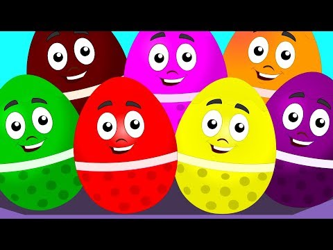 (New) Learn colors with surprise eggs color song for kids children nursery rhymes kids tv