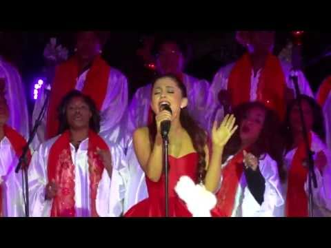(VFHD Online) Ariana grande - all i want for christmas is you [mariah carey cover] (live in l.a. 11-10-12)