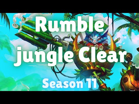 (New) Rumble jungle clear | season 11 | rumble jungle full clear (best path with runes) | patch 11.6