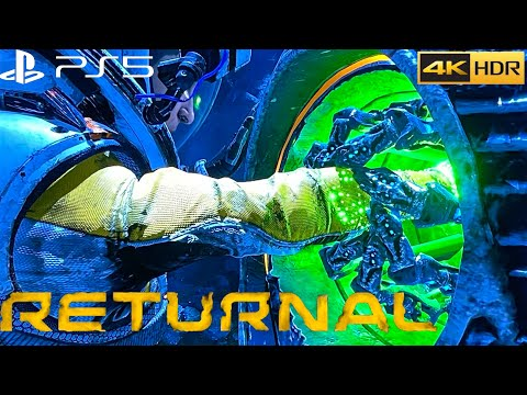 (New) Returnal hard alien combat gameplay - ps5 4k hdr ray-tracing