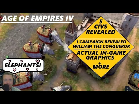 (New) Age of empires iv gameplay reveal + 5 civilizations + campaign revealed