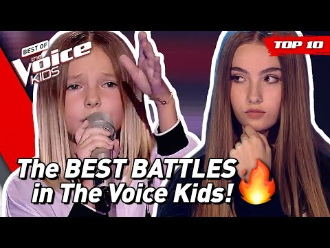 (New) Top 10 | the best battles in the voice kids ever! 🔥 (part 2)