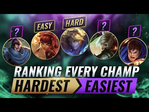 (New) Ranking every champion from hardest to easiest - league of legends season 10