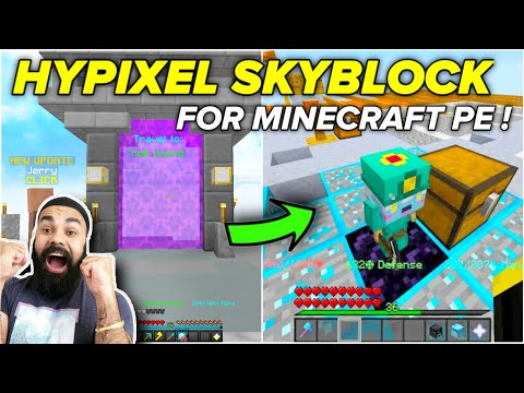 (New) Hypixel skyblock server for minecraft pe | how to play hypixel skyblock in minecraft pe |