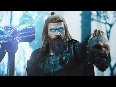 (New) Kratos vs. thor (alternate ending) | thor kills kratos - god of war vs. god of thunder