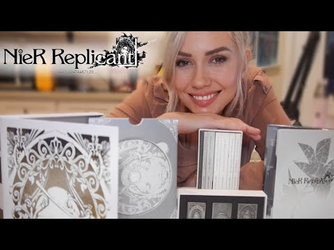 (New) Nier replicant collectors edition unboxing! (white snow edition)