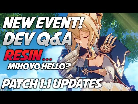 (HD) New event! genshin impacts response on resin try again! patch 1.1 leaks confirmed