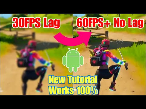 (VFHD Online) Play fortnite mobile without lag - extreme 60fps - 120hz on android phones - updated guide