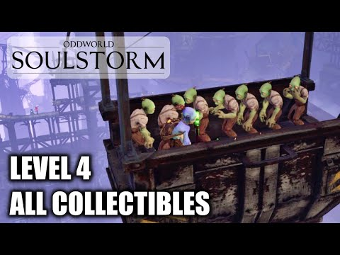 (New) Oddworld soulstorm - the funicular - all collectibles | mudokons, secret area's e jelly's - level 4