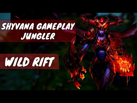 (New) Shyvana wild rift gameplay jungler | shyvana jungle ranked