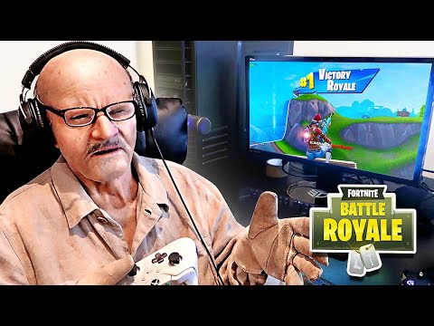 (VFHD Online) This 100 year old man won fortnite (my grandpa got angry)