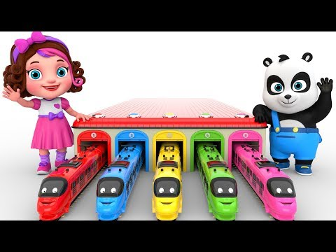 (Ver Filmes) Learn colors with toy trains - pinky and panda