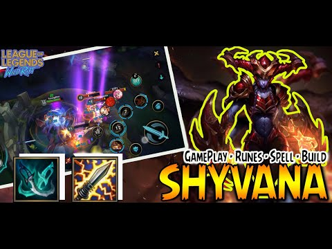 (New) Shyvana wild rift guide top build item crit | league of legends | shyvana best ad build gameplay