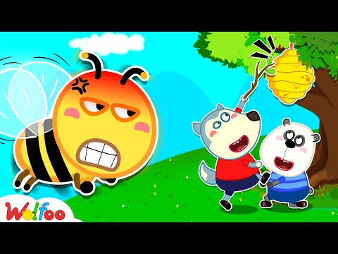 (New) Wolfoo learn about bees - kids safety tips | wolfoo family kids cartoon
