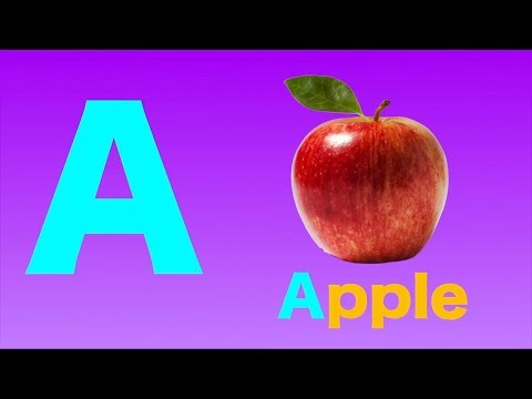 (VFHD Online) A is for apple - abc alphabet phonics song nursery rhymes for kids