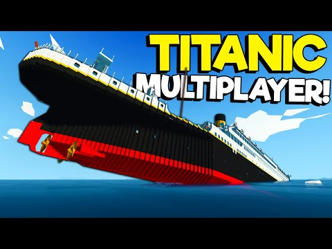 (New) Spycakes e i finally did titanic sinking survival in multiplayer! (stormworks gameplay)