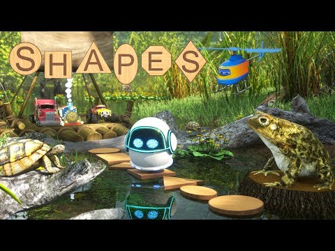 (Ver Filmes) Max and friends use wooden shapes to help bubble the robot cross the swamp | shapes for children
