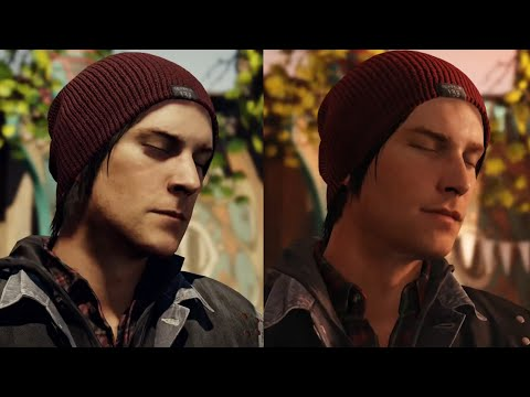 (New) Infamous second son retail vs e3 2013 ps4 graphics comparison