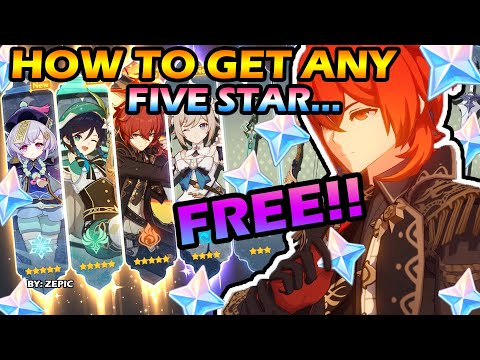 (New) How to get any five star in genshin impact for free    very easy and working! (you cant get banned)