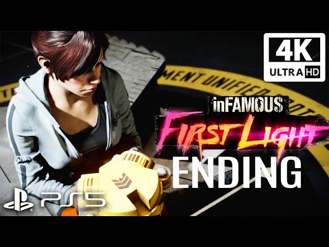 (New) Infamous first light ps5 final boss and ending 4k 60fps ultra hd