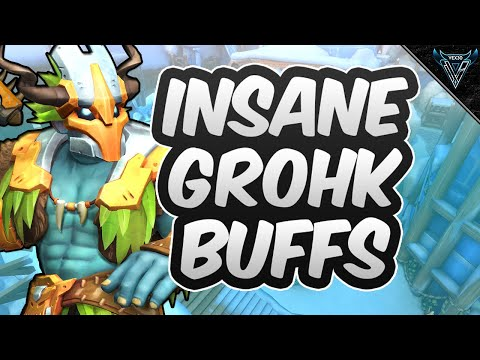 (New) Insane new grohk buffs!! is he meta now?? | paladins