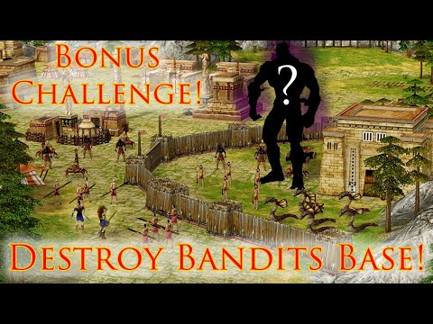 (New) Age of mythology campaign - more bandits, but we destroy bandits base | titan difficulty