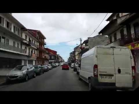 (New) Drive to cayenne from the airport. capital of french guiana august 2016