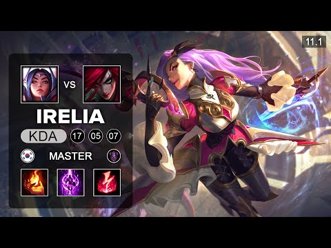 (New) Katarina main vs faker - katarina mid vs irelia - kr master patch 11.1