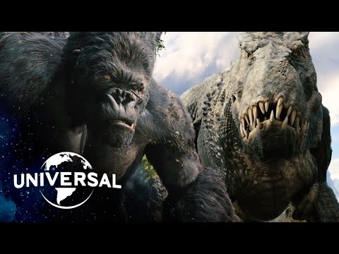 (HD) King kong | v. rex fight