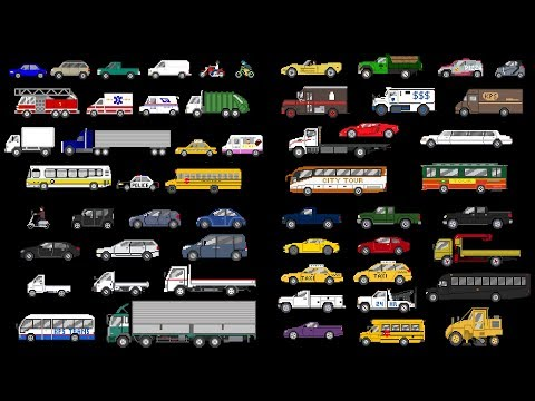 (Ver Filmes) Street vehicles collection - cars and trucks - the kids picture show (fun e educational)