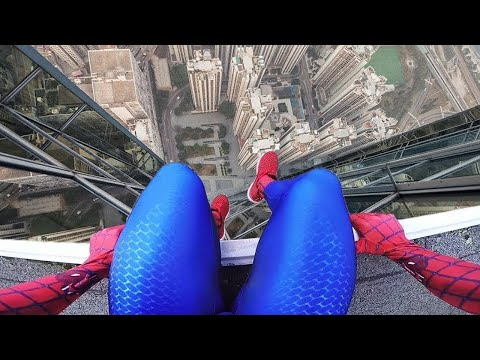 (Ver Filmes) Top 5 spiderman parkour pov   spider-man in real life