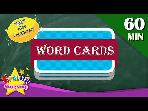 (Ver Filmes) Kids vocabulary compilation - words theme collection - word cards - review