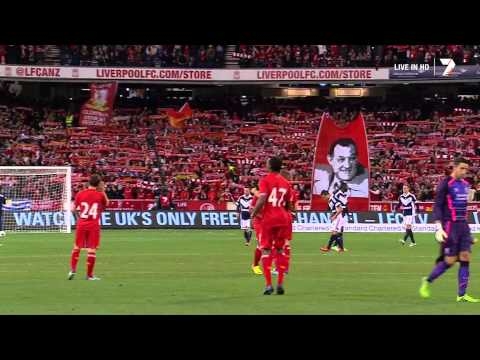 (New) Liverpool f.c. e 95,000 australian fans sing youll never walk alone full dolby mcg july 24,2013