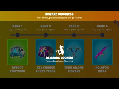(VFHD Online) Reboot a friend free rewards are impossible to get..! fortnite battle royale