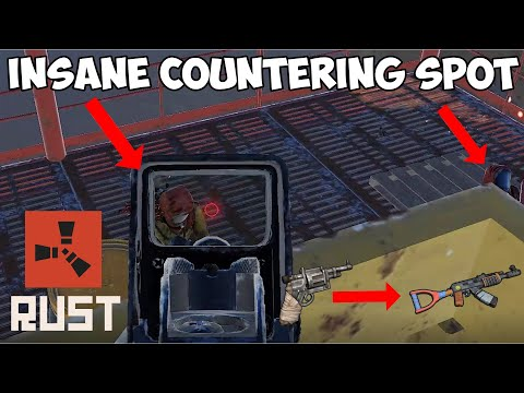 (New) Rust - small oilrig countering spot [subtitles available] [solo tip guide]