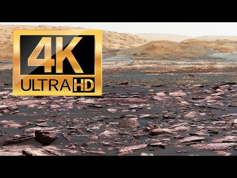 (HD) Best views from mars (4k). new photos of the curiosity rover